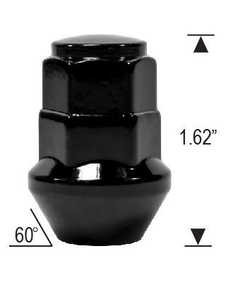 DUAL HEX ACORN - BLACK