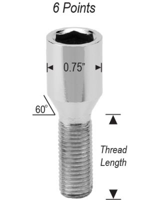 12mm 1.25 LUG BOLTS QUICK ORDER FORM