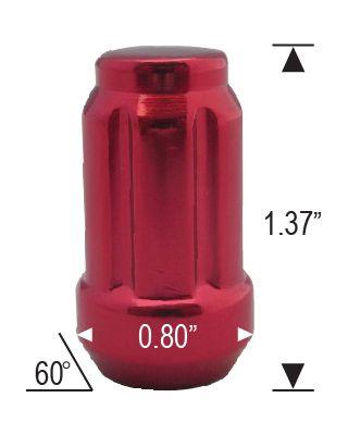 CLOSED SPLINE ACORN - RED